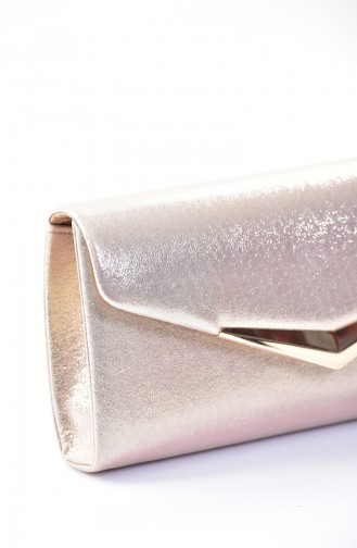Gold Colour Portfolio Hand Bag 0419-08