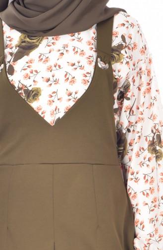 Gömlek Jile Elbise İkili Takım 1945-02 Haki