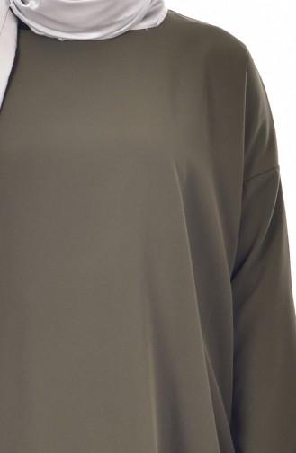 Asymmetrische Tunika 4020-03 Khaki 4020-03
