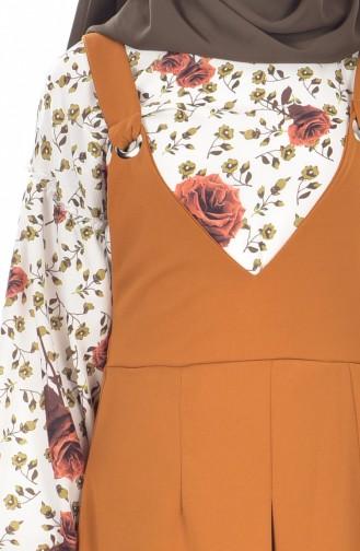 Gömlek Jile Elbise İkili Takım 1945-05 Hardal 1945-05