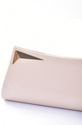 Damen Abendtasche 0433-09 Leder Hautfarbe 0433 9