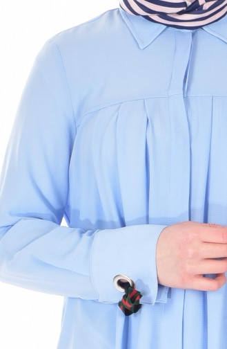Tunique Col Chemise 5474-07 Bleu 5474-07