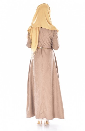 Sefamerve Kleid mit Gürtel 3951-13 Nerz 3951-13