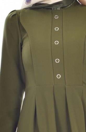 Robe Plissée 8119-04 Khaki 8119-04