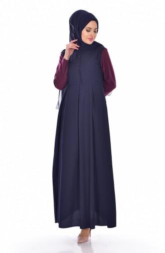 Robe Garnie 5733-06 Bleu Marine 5733-06