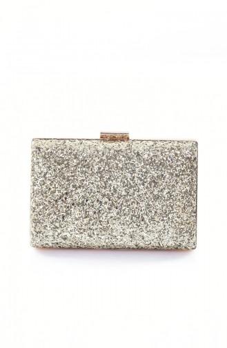 حقيبة يد لون ذهبي 0275-02