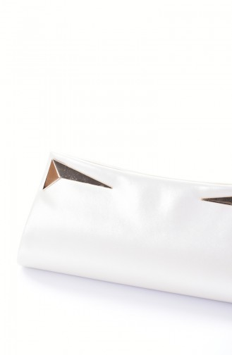 Damen Abendtasche 0433-08 Leder Perlmuttfarbe 0433 8