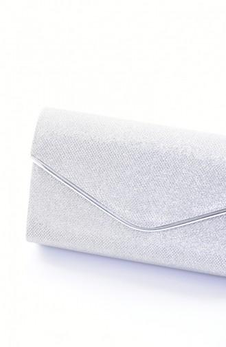 Silver Gray Portfolio Hand Bag 0458-04