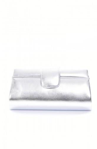 Silver Gray Portfolio Hand Bag 0494-05