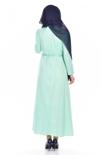 TUBANUR Belted Dress 3020-08 Mint Green 3020-08