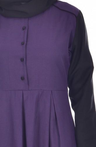 وايت بيرد فستان بتفاصيل أزرار 5733-07 لون بنفسجي 5733-07