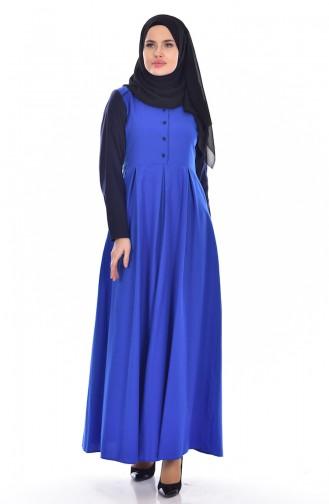 Robe Garnie 5733-09 Bleu Roi 5733-09