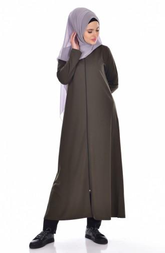 Abaya mit Reißverschluss 99140-04 Khaki 99140-04
