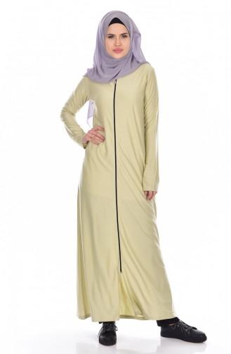 Abaya a Fermeture 99140-09 Vert Menthe 99140-09