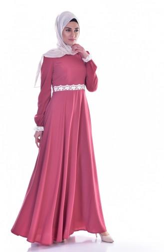 Dusty Rose İslamitische Jurk 0038-01