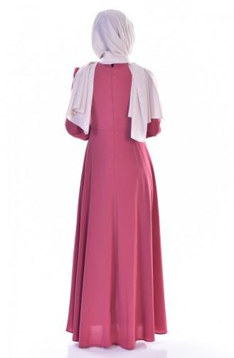 Kleid mit Spitzen 0038-01 Rosa 0038-01