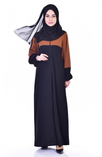 Garnili Ferace 3305-03 Taba Siyah