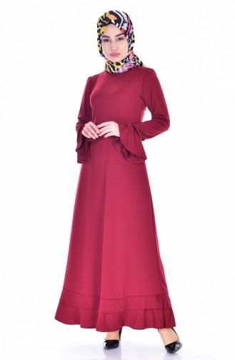 Claret red Dress 3304-01