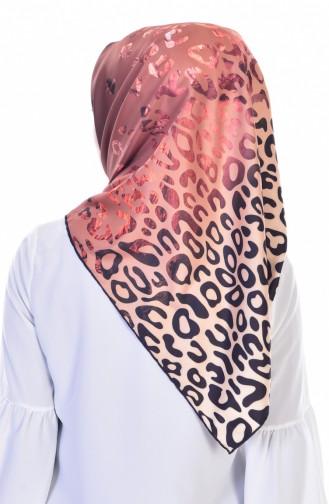 Echarpe a Motif Leopard 95060-06 Khaki 06