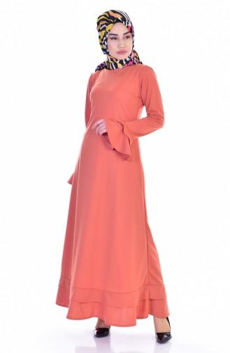Pale orange İslamitische Jurk 3304-04
