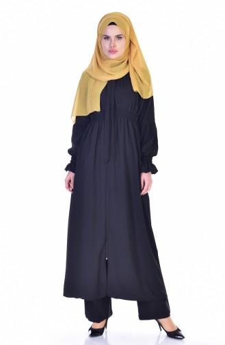 Abaya élastique 4601-01 Noir 4601-01