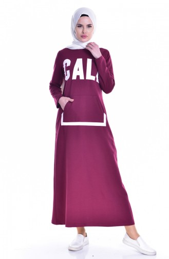 Claret red Dress 8098-05