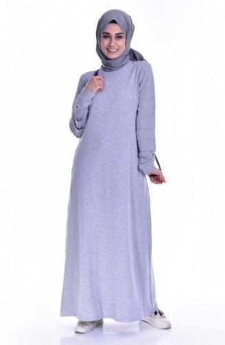 Gray İslamitische Jurk 8111-04
