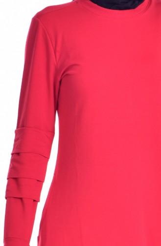 Sport Kleid mit Nullkragen 8111-01 Rot 8111-01