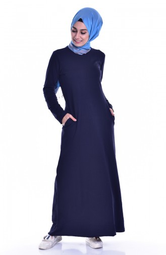 Navy Blue Dress 8111-03