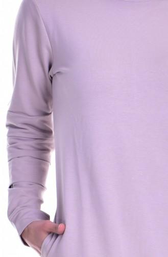 Sport Kleid mit Nullkragen 8111-07 Milch Kaffee 8111-07
