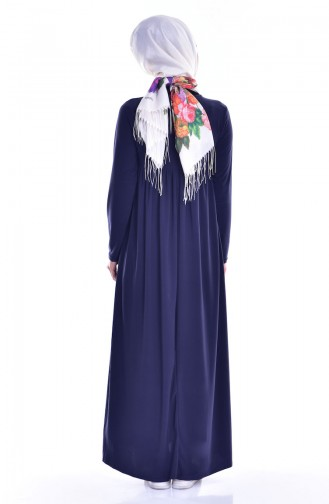 Gerafftes Basic Kleid 1852-09 Rauchgrau 1852-09