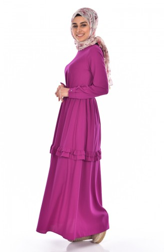 Ruched Laced Dress 60672-02 Light Damson 60672-02