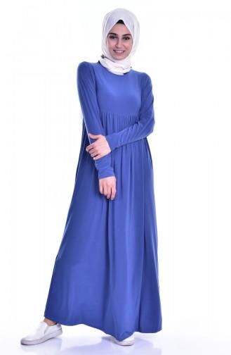 Robe Basic Plissée 1852-08 İndigo 1852-08