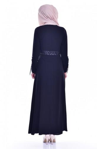 Abaya a Fermeture 24154-02 Noir 24154-02