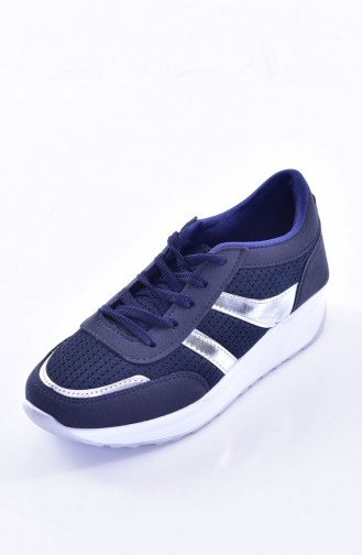 Navy Blue Sport Shoes 0765-01