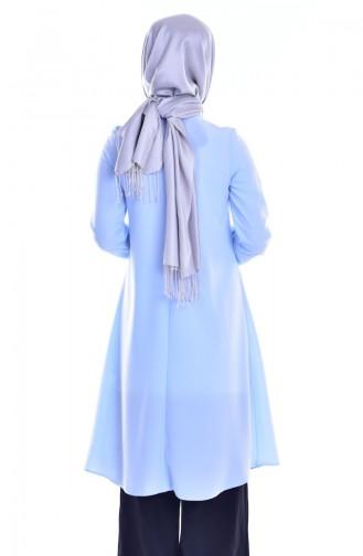 Tunique Détail Accessoire 1800-04 Bleu Bébé 1800-04