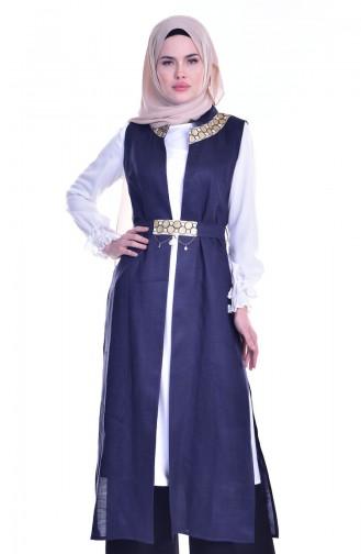 Tunic Vest Double Team 1717937-01 Navy Blue White 1717937-01