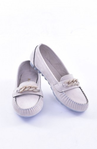 Gray Woman Flat Shoe 50193-04
