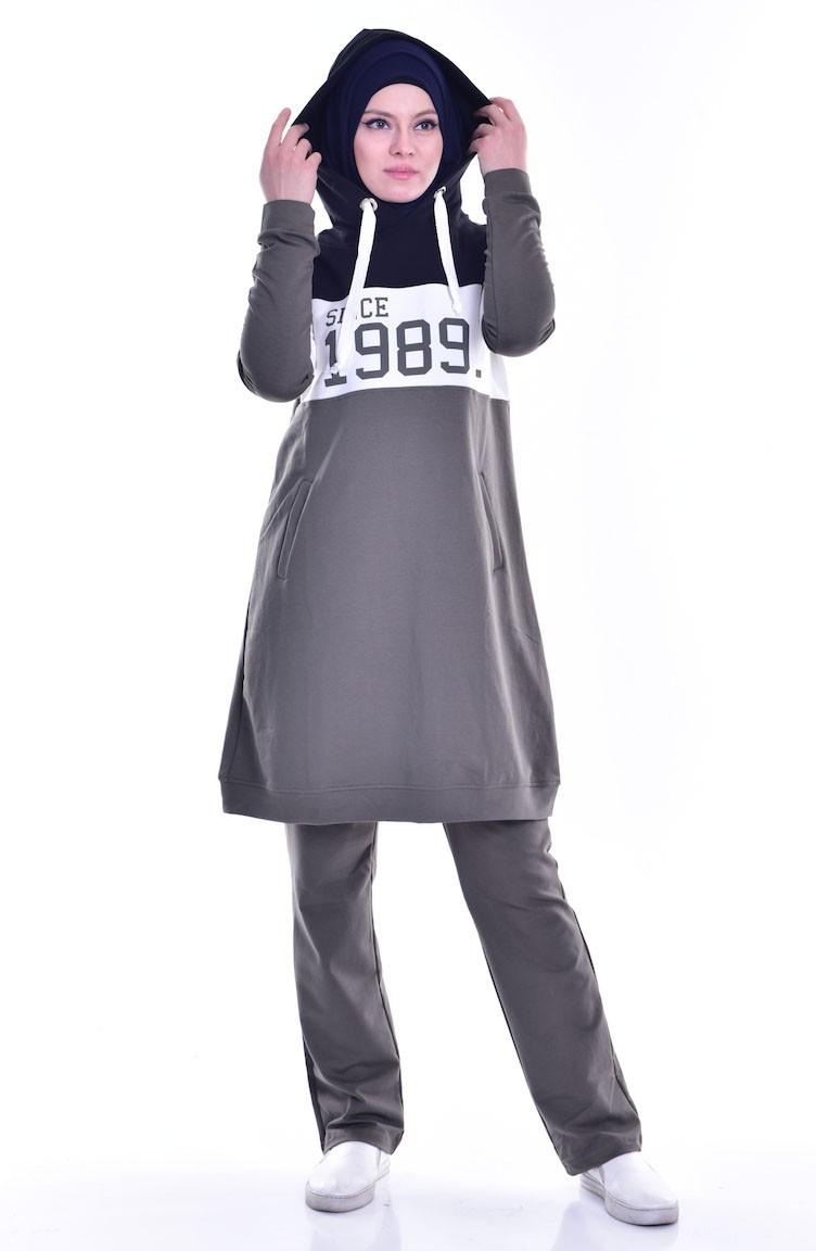 the latest super popular release date Trainingsanzug mit Kapuzen 8037-03 Khaki 8037-03