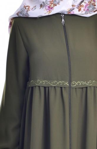 Khaki Abaya 0005-03