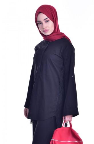 Chemise avec Franges 0248-02 Noir 0248-02