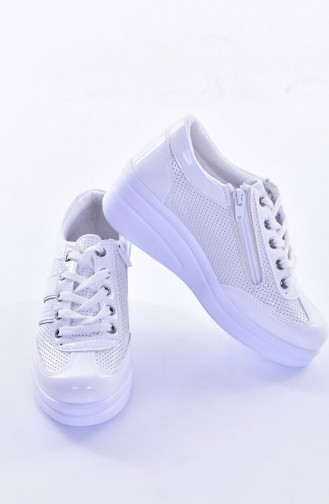 White Sport Shoes 0101-07
