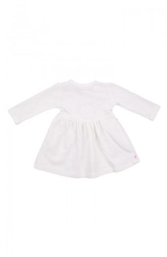 Ecru Baby Overalls 11050EKR-01
