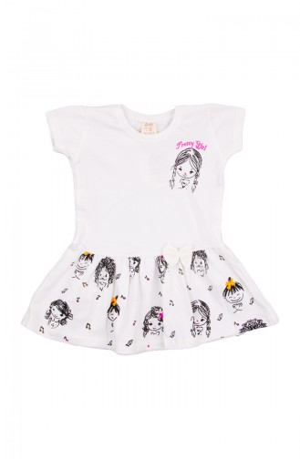Combed Cotton Baby Dress Zs11201-02 Ecru 11201-02