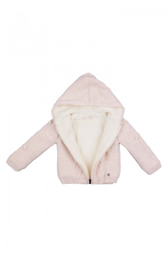 Baby Sweatshirt mit Kapuze MIO21010EKR-01 Ekru 21010EKR-01
