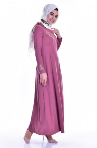 Dusty Rose İslamitische Jurk 4401-10