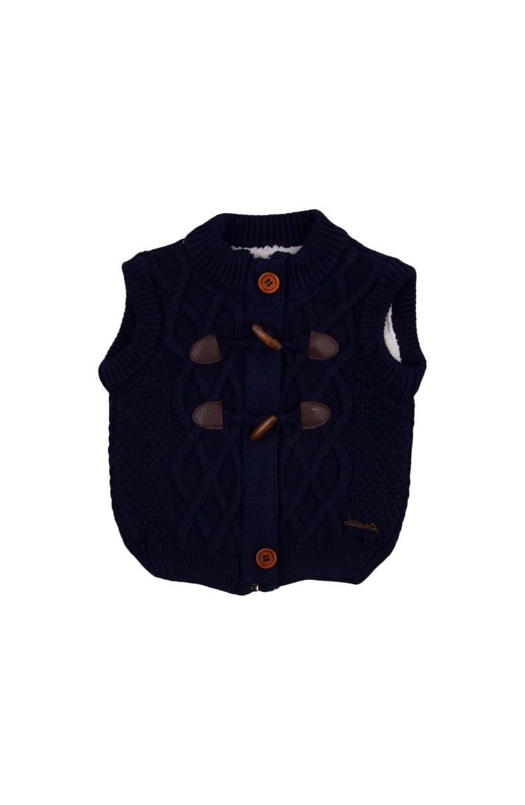 1889409c8 Navy Blue Baby Vest 23015LAC-01