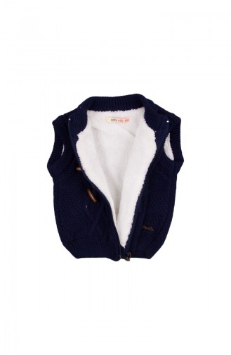 Navy Blue Baby Vest 23015LAC-01