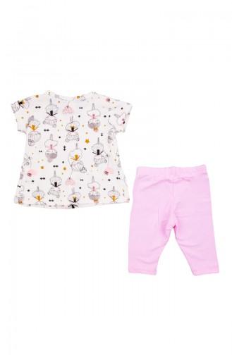 Gekämmte Baumwolle Babyset ZS10900-04 Pink 10900-04