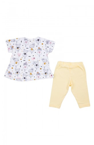 Combed Cotton Suit Zs10900-03 Yellow 10900-03